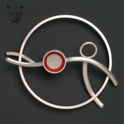 Piece item                 b Brooch in the Artery Series, silver.                            Dimensions:        10.5cm x 7.35cm                          Photographer:       John K. McGregor