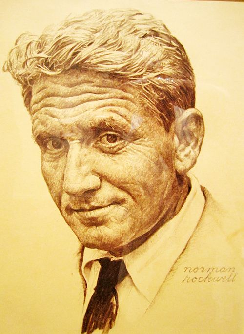 Spencer Tracy by Norman Rockwell.