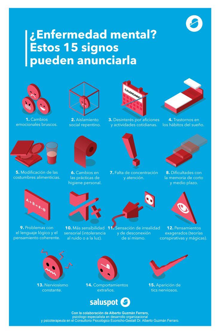 Cómo detectar enfermedades mentales, en esta infografía en colaboración con Alberto Guzmán Ferraro.