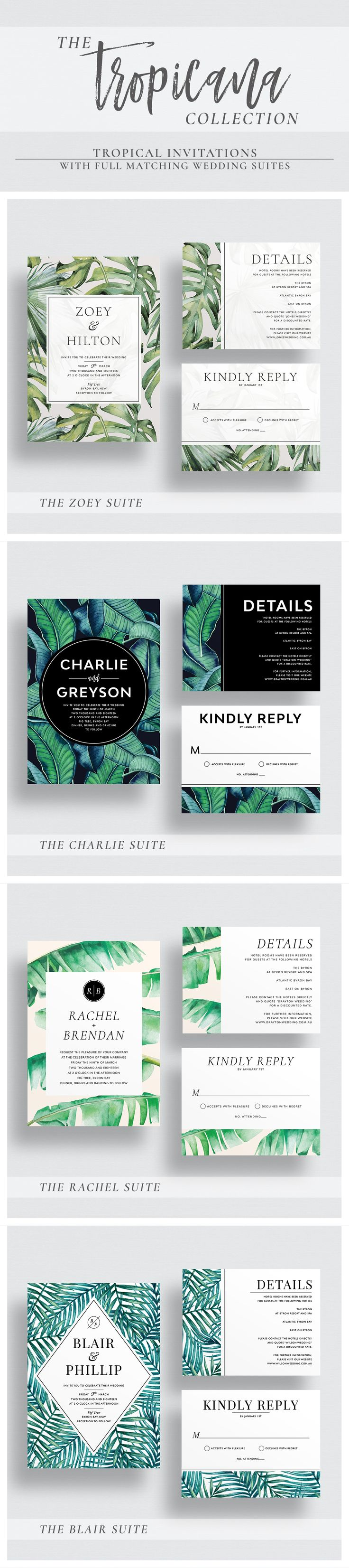 Beautiful foliage wedding invitations.