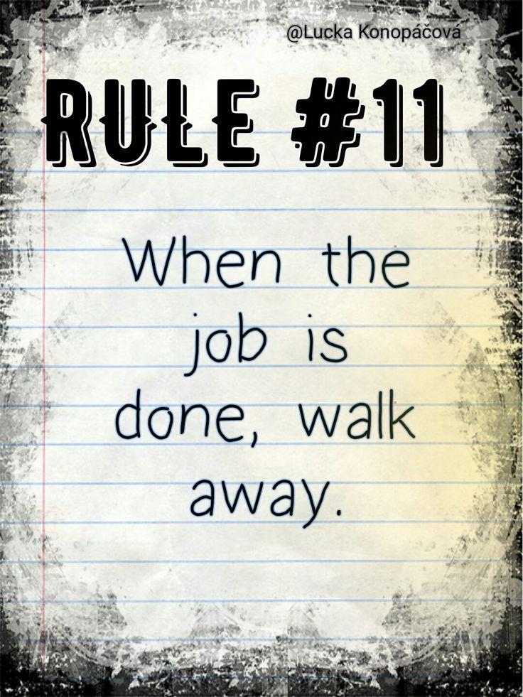 NCIS Gibbs rule #11