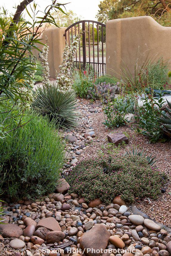 Dry Stream Bed In Courtyard Garden Landscape Design