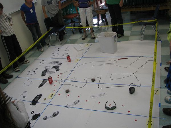 Create your own crime scene... might be fun to try out.