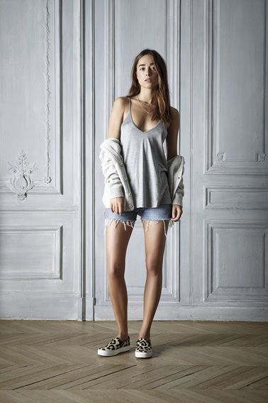 #summer #Outfit #style #denim #Top #grey #blue #leopard #womenswear