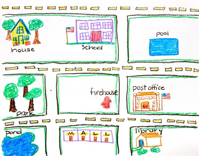 What is a community? One way to view a community is to create a map of a town, neighborhood, or region. Draw maps of different kinds of communities using Crayola® Dry-Erase Crayons while you practice following directions.