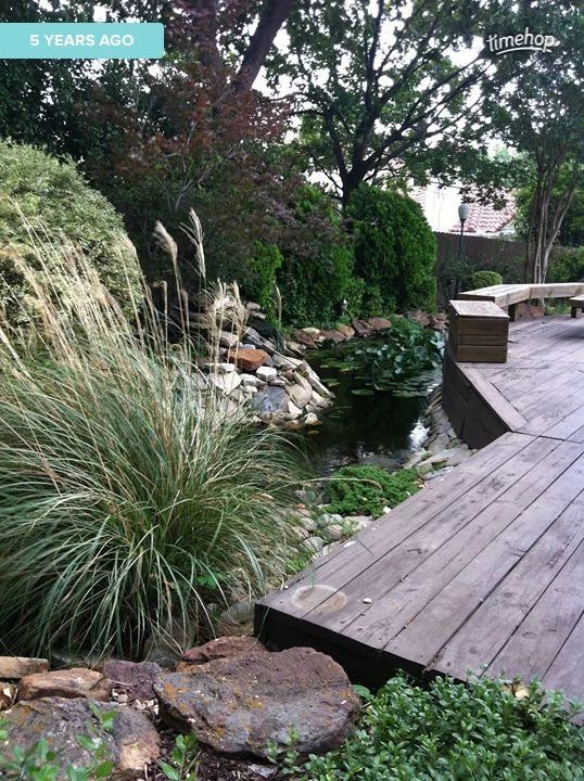 16 best Backyard Koi Pond images on Pinterest Backyard - gartenteich mit brucke und bachlauf