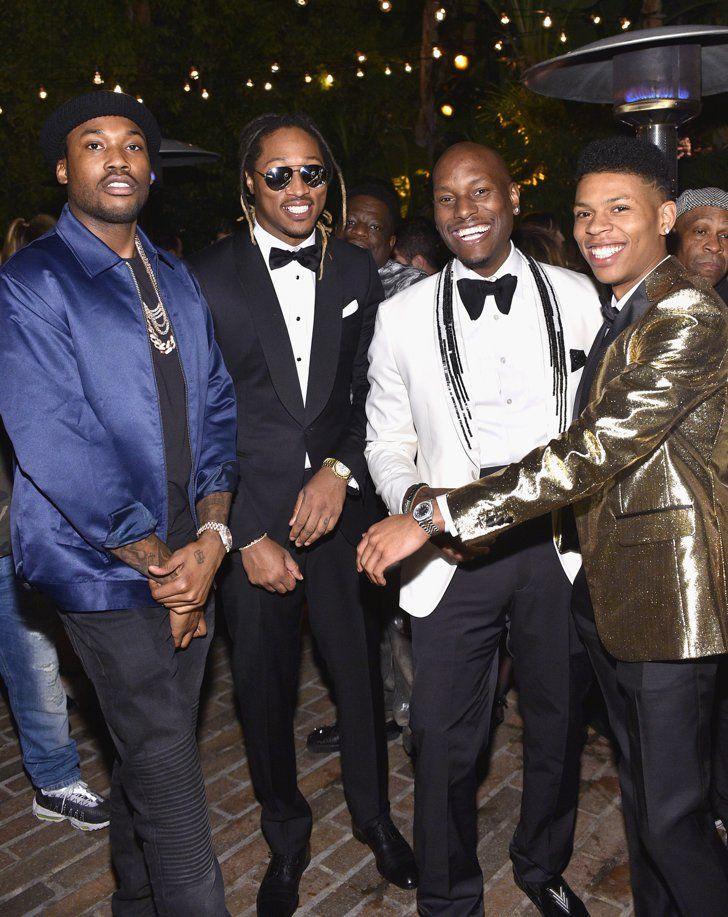 Pin for Later: Les Personnalités les Plus Sexy du Moment Se Sont Rendues à la Soirée GQ Men of the Year Rappers Meek Mill, Future, Tyrese Gibson et Bryshere Y. Gray