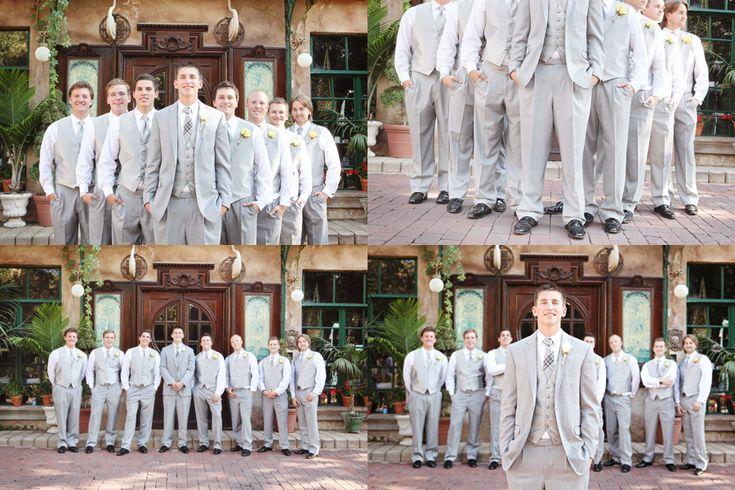 Grey Wedding Suits   Portfolio (groomsmen, grey suits, la caille wedding, utah wedding ...
