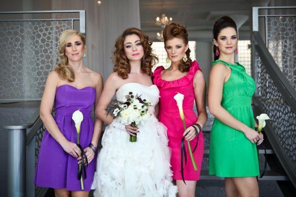 Bright Bridesmaid Dresses | Weddings Through the Decades: Colorful '80s Inspiration | POPSUGAR Love & Sex