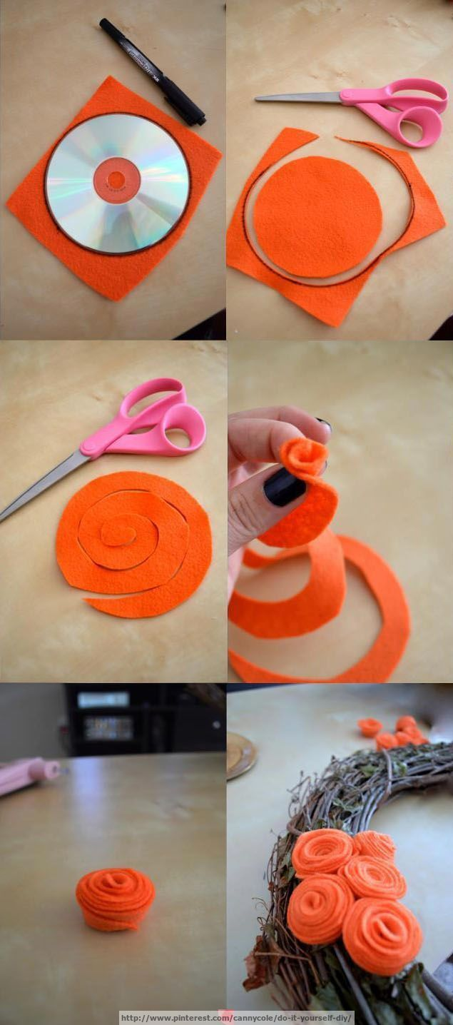 Cool way to create a flower looking decoration