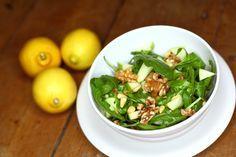 Deze salade is heerlijk fris, maar tegelijkertijd lekker pittig door het gebruik van rucola.