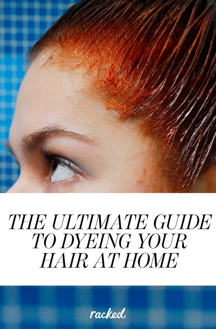 How to Successfully Dye Your Hair at Home: (http://www.racked.com/2015/6/11/8757391/guide-at-home-hair-dye)