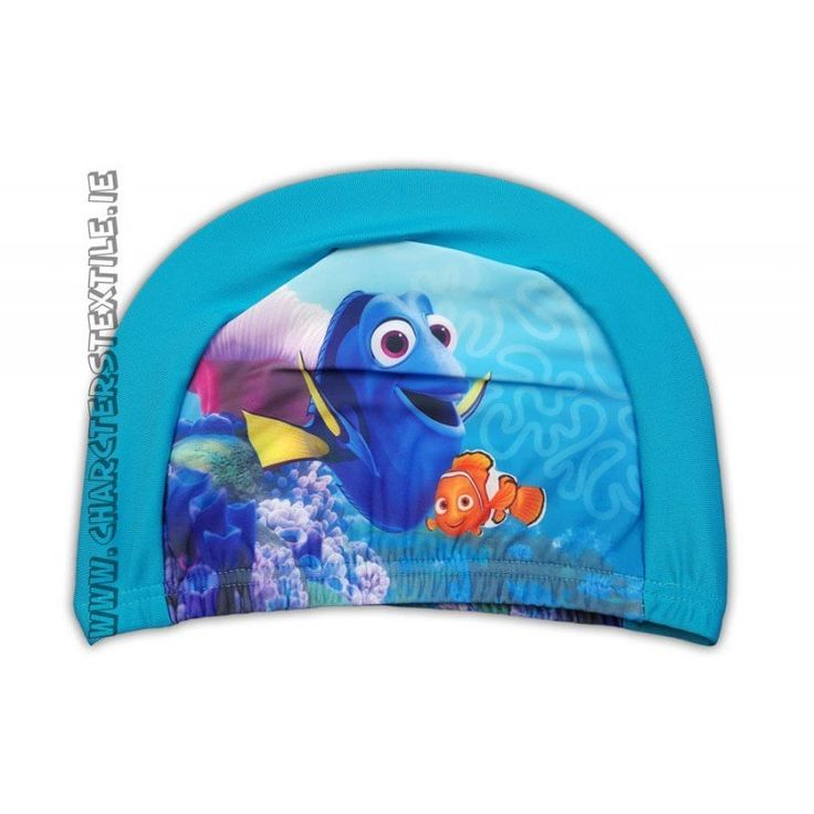 Lightweight easy stretch Spandex fabric which is quick drying and machine washable Girls Disney Finding Dory swimming hat Turquoise Turquoise.These hatare not waterproof but are perfect for use in pools for fun / hygiene or to keep the hair back and in place.Suggested