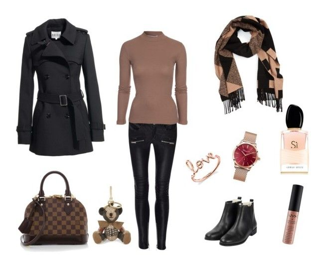 """Feeling autumn in Black & Tan Beige  X"" by lijalinn on Polyvore featuring Anine Bing, Reiss, NLY Trend, Thomas Sabo, Burberry, Louis Vuitton, Sydney Evan and Giorgio Armani"