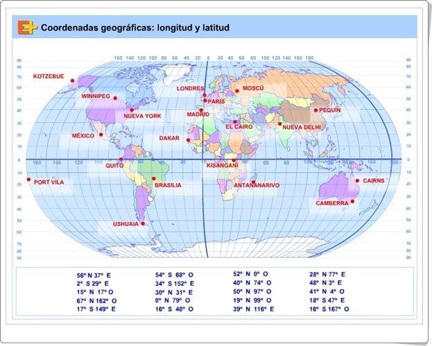 23 best geografa doc laura ricci images on pinterest teaching coordenadas geogrficas longitud y latitud teaching mapsfree patterngame gumiabroncs Choice Image