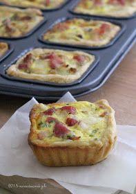 Potato Bacon and provolone quiche - quiche pancetta patate e provola - SosiDolceSalato: Mini Quiche saporita