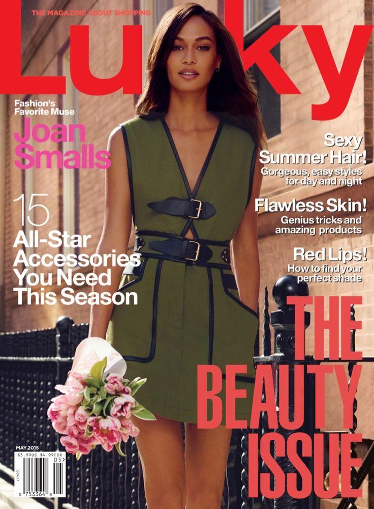 ジョアン·スモールズはラッキー誌の2015年5月のカバーを飾っ