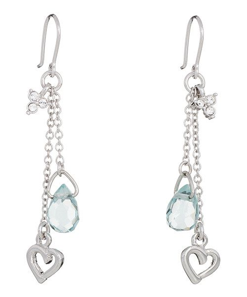 Annaleece Aqua Love is in the Air Earrings Made With SWAROVSKI ELEMENTS on #zulily today!