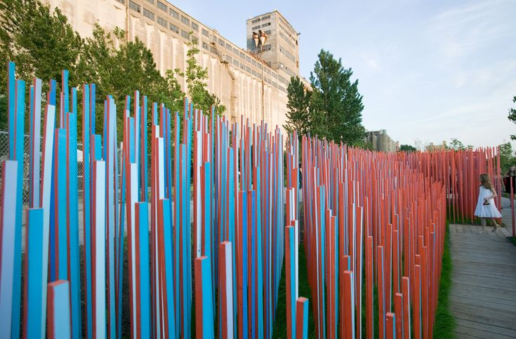 Jardins de bâtons bleus