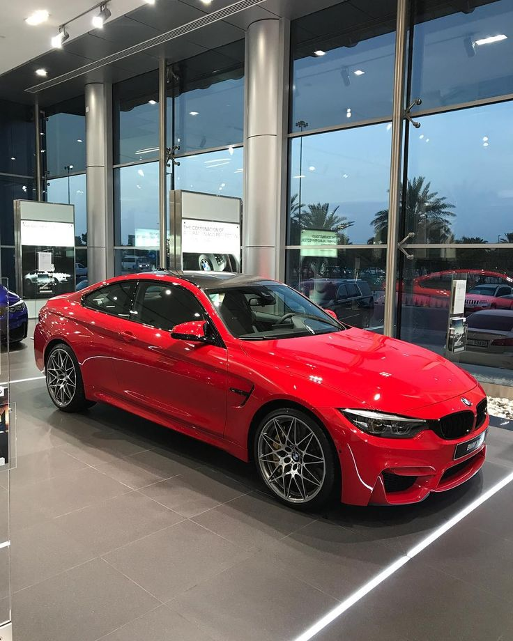 "Rami Nasri - BMW, MINI , RR (@abudhabi_bmw) on Instagram: ""Bmw M4 Ferrari Red ❤️ competition Package . 6 Cylinders inline Twin Turbo 450 Hp Torque 550 NM…"""