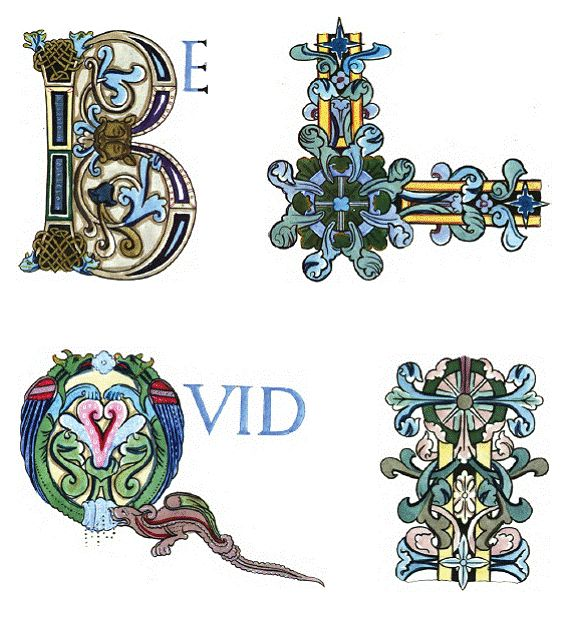 Saxon Capital Letters And Borders From A Psalter, Produced