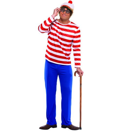 Men's Where's Wally Fancy Dress Costume