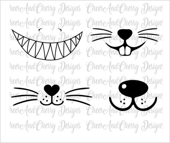 Funny Face Mask Svg Bundle Social Distance Animal Mask Design Svg Dog Face Svg Cat Whisker Svg Shark Smile Svg Bunny Face Mask Teacher In 2020 Animal Face Mask Bunny Face