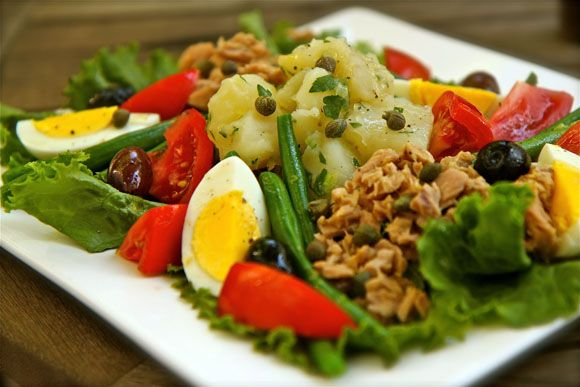 Julia Child's Salade Nicoise. Happy 100th birthday #JuliaChild @averagebetty