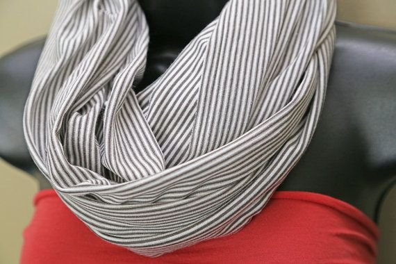 Nursing Scarf Cover  white & grey/ gray 3 in 1 by MamaMelonCA