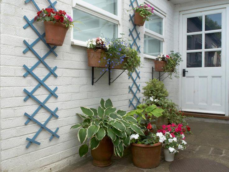 34 best gardening ideas images on pinterest | potted plants patio ... - Patio Lattice Ideas