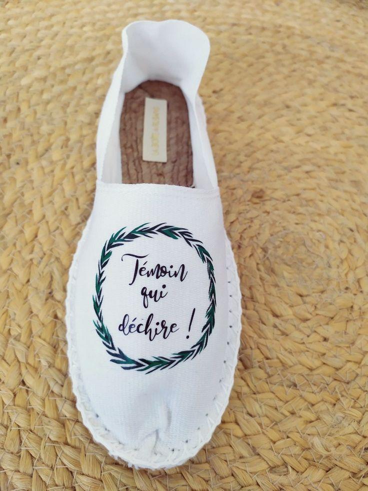 Espadrilles Cadeau pour témoin de mariage fun