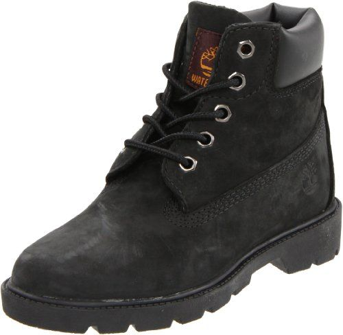 Timberland 6 Inch Boot (Toddler/Little Kid/Big Kid),Black ,8.5 M US Toddler Premium waterproof leather. Padded collar for comfortable fit. Rustproof hardware. Textile lining for comfort. Non-marking rubber outsole for traction.  #Timberland #Shoes