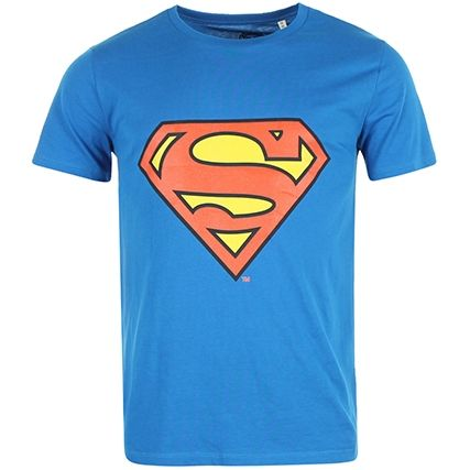 Tee Shirt Superman Logo Bleu Roi - LaBoutiqueOfficielle.com