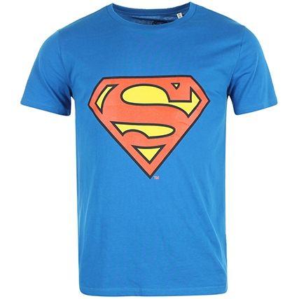 Tee Shirt Superman Logo Bleu Roi - LaBoutiqueOfficielle.com