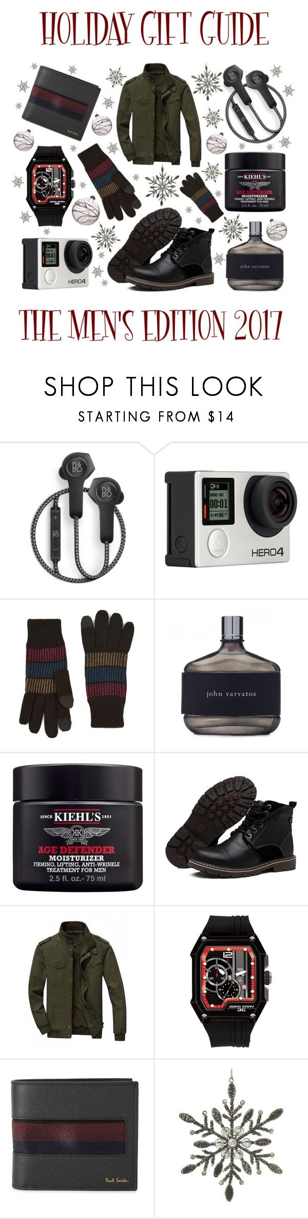 Holiday Gift Guide: The Men's Edition by latoyacl on Polyvore featuring Jorg Gray, Paul Smith, Billabong, B&O Play, Topman, John Varvatos, Kiehl's, Parlane, Shishi and men's fashion