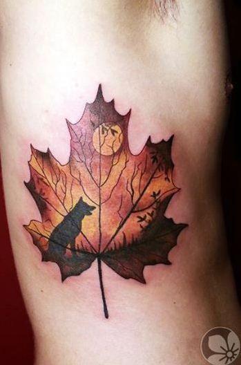 Maple Leaf tattoo 2