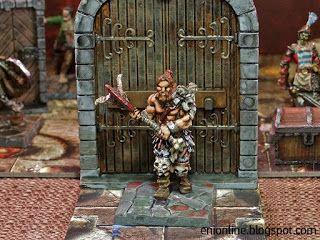 Heroes in action - Dungeon Saga painted miniatures ~ Enionline Alternative Worlds #28mm #dungeondsaga #dungoensanddragon #d&d #miniature #heroes #painting fantasy#orlaf #barbarian #warrior #barbaro