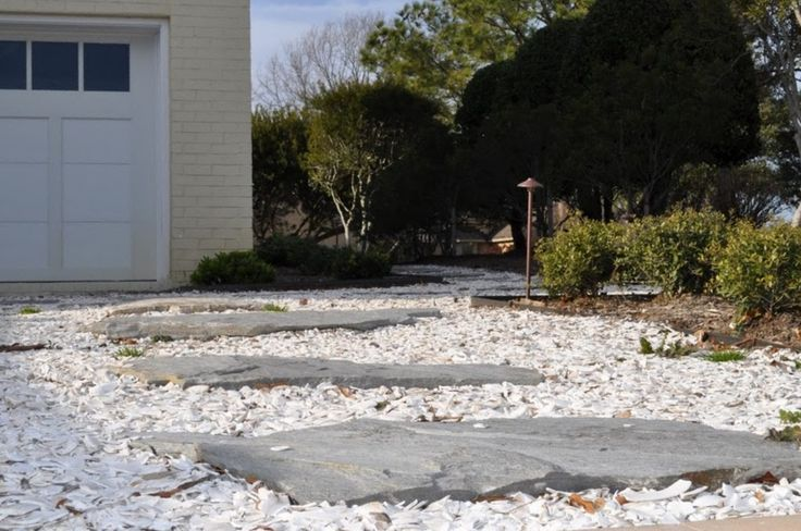 Oyster Shell Walkway With Flagstone