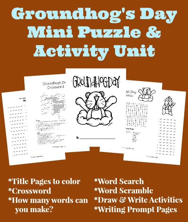 FREE Groundhog's Day Activities (and craft ideas too!)
