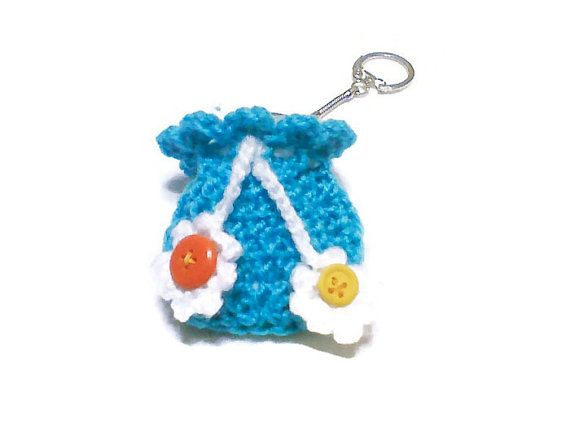 Check out this item in my Etsy shop https://www.etsy.com/ca/listing/180963125/crochet-bag-keychain-unique-yarn-gift