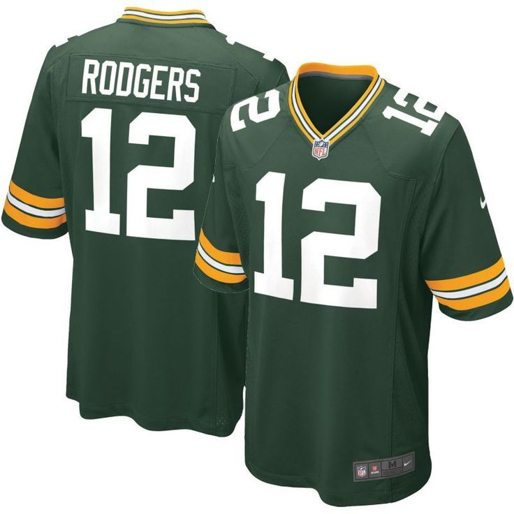Nike Men's Home Game Jersey Green Bay Aaron Rodgers #12, Size: Medium, Team