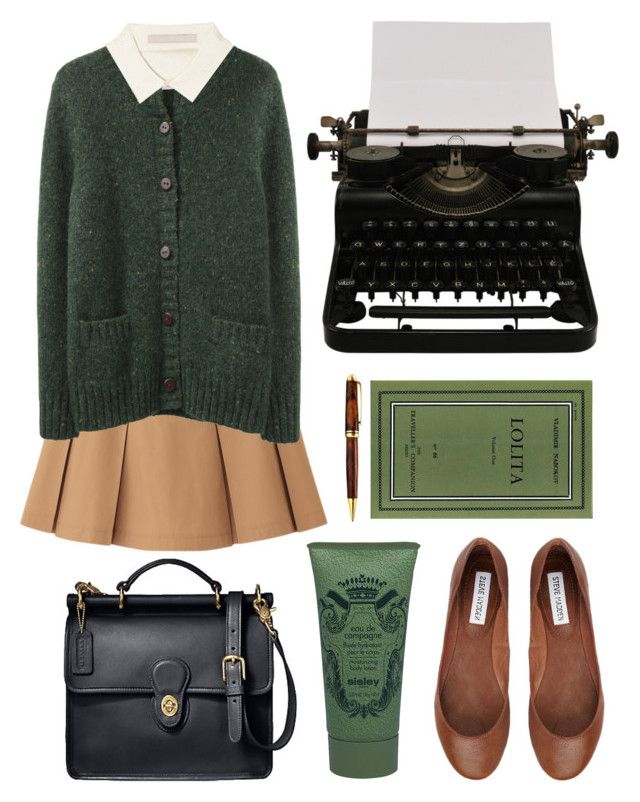 Untitled by hanaglatison ❤ liked on Polyvore featuring Uniqlo, Band of Outsiders, Jason Wu, Coach, Sisley Paris, Steve Madden and Mont Blanc