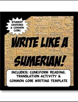 Write Like a Sumerian! Cuneiform in Mesopotamia Common Core Writing & Literacy. Super fun  too!