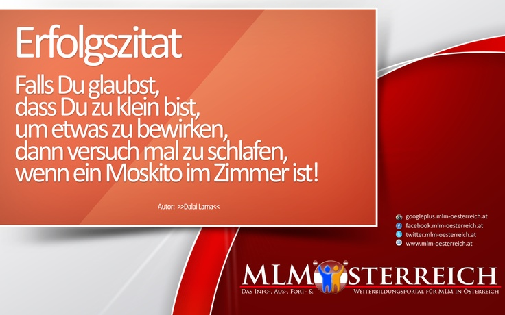 Erfolgszitat vom 06.05.2013 auf MLM-Österreich.at