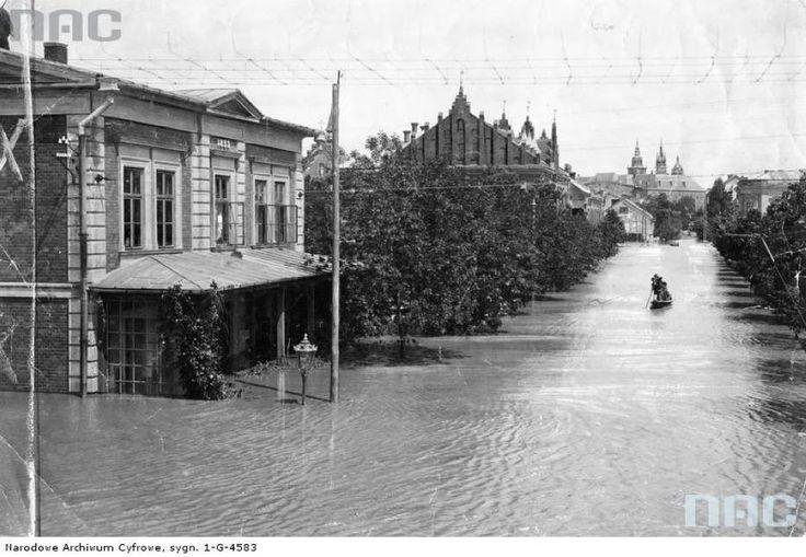 Powódź, 1903 rok, ul Wolska