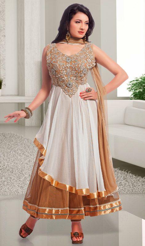 Latest Designer Anarkali Suits White