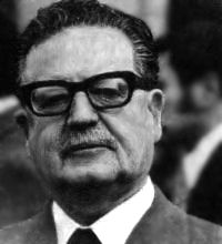 Salvador Isabelino Allende Gossens (26 June 1908 – 11 September 1973) was a Chilean politician and member of the Socialist Party, and President of Chile from November 1970 up until his death during the 1973 coup.  I have faith in Chile and its destiny.