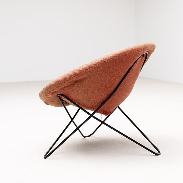 Jean Royère; Enameled Metal Lounge Chair, c1960.