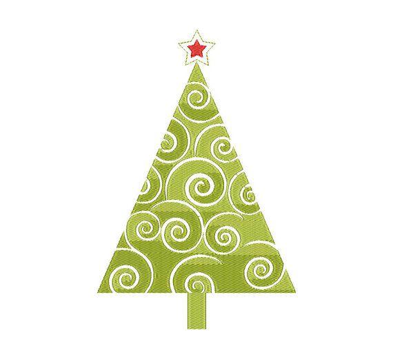 Christmas tree Machine Embroidery Design Instant от EMBROLANDnet