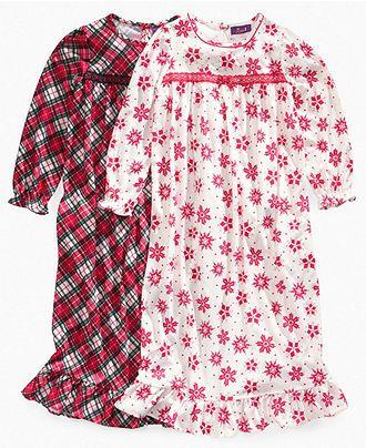 So Jenni Kids Sleepwear, Girls and Little Girls Flannel Holiday Nightgown - Kids Pajamas - Macy's  For christmas